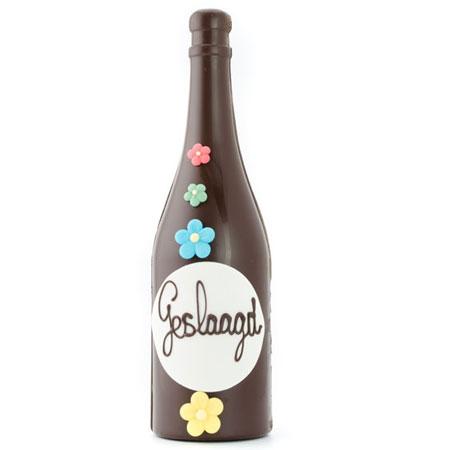 chocolade fles gefeliciteerd